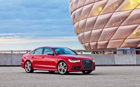 The 2013 Audi S6 arrives in the fall, and the RS6 after that.