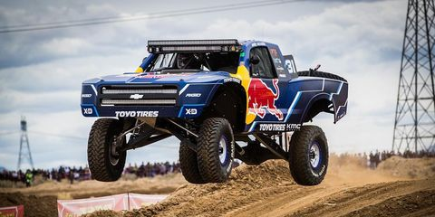 Andy McMillin, shown here at an earlier event, was flying high after he won the San Felipe 250 last weekend.