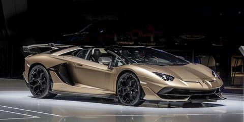 The Lamborghini Aventador SVJ Roadster debuts at the Geneva Motor Show with 759 hp.