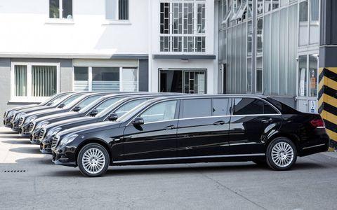 The 2014 Mercedes-Benz E-class six-door limousine by BINZ as been renewed after the facelift.