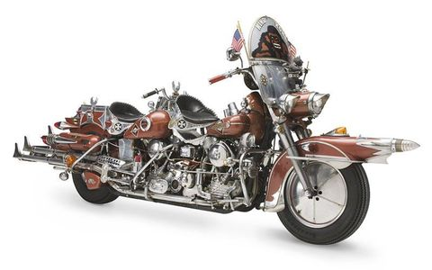 """The Harley-Davidson Museum will feature the """"King Kong"""" motorcycle, built by a Harley-Davidson enthusiast in Pennsylvania. It is 13 feet long, and is powered by two V-twin """"Knucklehead"""" engines."""