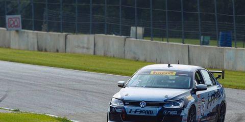 Jeff Altenburg won his first Pirelli World Challenge race at Road America on Sunday.