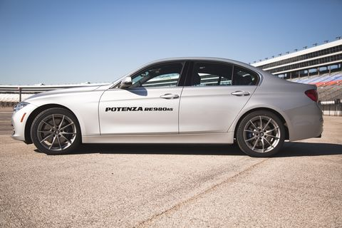 The Potenza RE980AS is Bridgestone's latest ultra-high performance all-season tire.