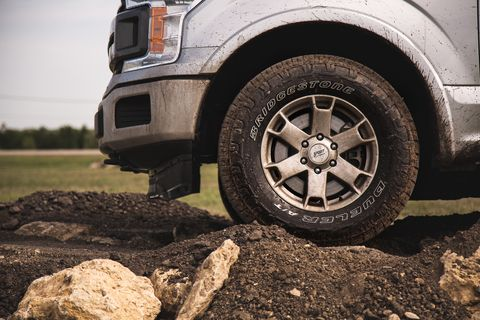 The Bridgestone Dueler A/T Revo 3 is an all-terrain tire that attempts to find a middle ground between on- and off-road performance.