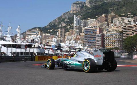2012 Monaco Grand Prix: Nico Rosberg, Mercedes F1 W03.