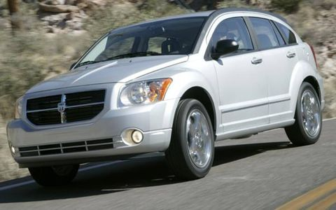"""Dubbed """"part sports car, part sport/utility vehicle,"""" the 2007 Dodge Caliber goes on sale in March at a starting price of $13,985-$410 less than the Dodge Neon it replaces. This Jeep Compass sibling offers multiple engine and tranny choices: a 1.8-liter, 148-hp inline-four with a five-speed manual; a 2.0-liter, 158-hp inline-four with a CVT; or a top-of-the-line 2.4-liter, 172-hp inline-four with CVT and awd."""