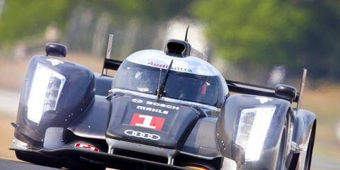 Audi looks to defend its 2010 Le Mans victory with its new R18 TDI. Photo by: LAT Photographic