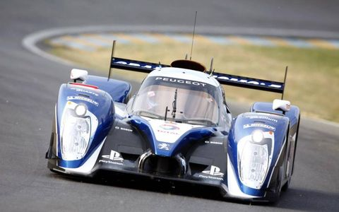 Peugeot will take the fight to Audi with its newly designed 908 HDI. Photo by: LAT Photographic