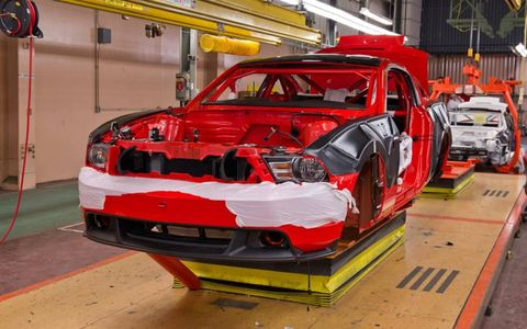 Boss 302 Mustang assembly