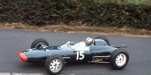 Roy Salvadori at Nurburgring, Germany, in 1962.