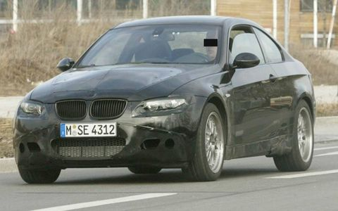 BMW's M3, scheduled for launch next year, will feature V8 power for the first time, derived from the same powerplant propelling its road-rocket siblings, the M5 and M6. The 4.0-liter engine should deliver 415 hp via a seven-speed sequential manual gearbox or an optional six-speed manual.