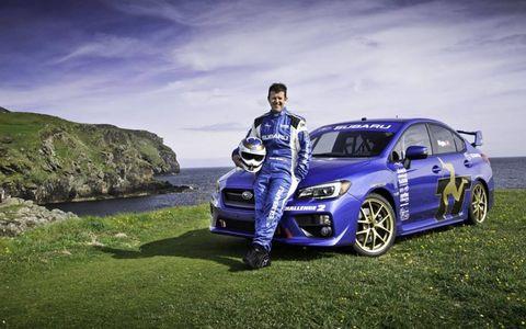 Mark Higgins and the 2015 Subaru WRX STI at Isle of Man
