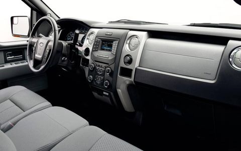 Ford redesigned the center stack of the F-150 for 2013.