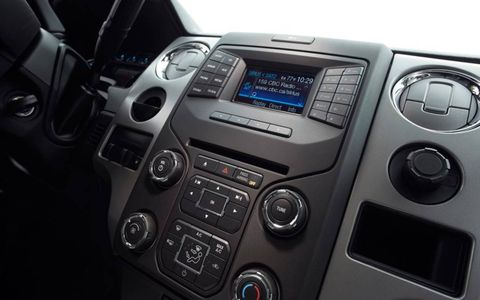 Lower trim levels of the Ford F-150 get a video screen to use the Sync system.