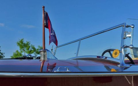 The details on this nicely restored 28-40 runabout are exquisite from stem to stern.