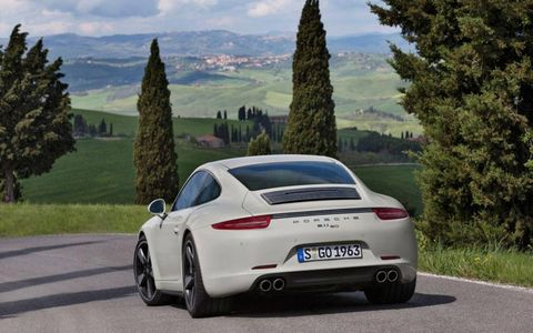 The rear features a wider body normally found on the Carrera 4