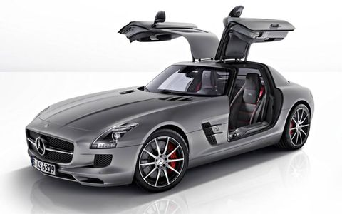 The coupe version of the 2013 Mercedes-Benz SLS AMG GT.