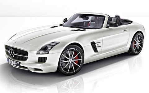 The roadster version of the 2013 Mercedes-Benz SLS AMG GT.