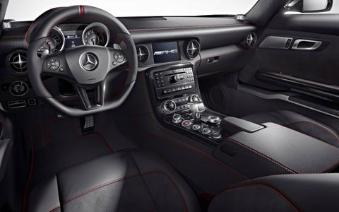 A look at the dashboard in the 2013 Mercedes-Benz SLS AMG GT.