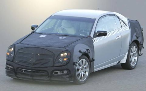 This illustration of the upcoming 2009 Cadillac CTS coupe is based on a spyshot of the 2008 Cadillac CTS.