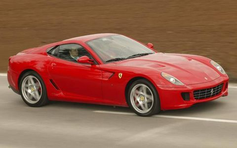 The 599 GTB Fiorano is the latest in a line of front-engine V12 coupes dating to the 1953 250 MM, and the ultimate expression of Montezemolo's vision to date. This 620-hp, auto-climate, Bose-equipped supercar is like none before it. The 5999-cc, 65-degree V12 shares its architecture and compression ratio (11.2:1) with the Enzo's engine and generates almost as much power: 620 hp at 7600 rpm, compared to 660. It is more compact than the previous-generation V12 in the 575M, with a lower deck height that brings the center of mass down roughly an inch in the chassis. Redline is 8400 rpm, with 448 lb-ft of torque at 5600 rpm.