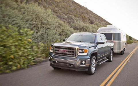 We spent two days hauling around an Airstream trailer with our GMC Sierra trouble-free. The 5.3-liter V8 version tows up to 11,500 pounds.