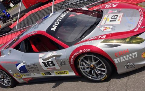 This weekend in Montreal, Jim Weilan will driver a car with PETA decals on it in the North American Ferrari Challenge.