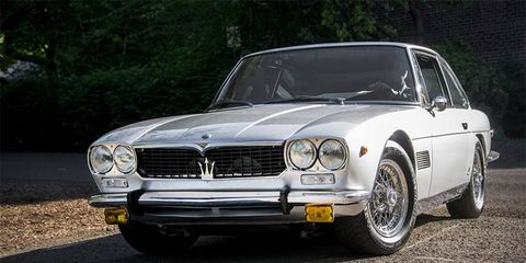 Several classic Maseratis turned out for Sunday's Concours Europa, including this Mexico Coupe.