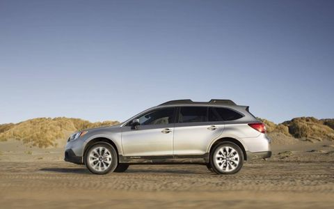 The 2015 Subaru Outback comes equipped with a 2.5-liter inline four-cylinder engine.