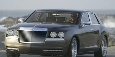 """We drove the Imperial concept recently—very slowly on a closed course out in California, as is often the case with semi-delicate concepts. It wasn't so much a driving impression we got as a sitting-in-the-car-while-it's-moving impression. Yet we were very impressed. You have read the specifics about this car before (""""Give 'Em an Inch,"""" Jan. 2): It sits on 300C mechanicals with the 300C's 5.7-liter V8 driving the rear wheels on a wheelbase stretched three inches to 123 inches and a roof raised by a whopping seven inches (plenty of room for NBA stars!). So it has what you would call a nice drivetrain and a spacious interior."""