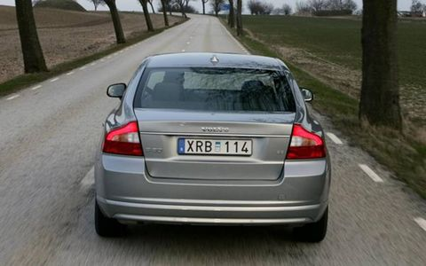 """While there are adjustments galore—including three settings for steering effort and three settings for ride—the S80 does not have iDrive or even an Audi-like MMI. Volvo says the S80 is about """"Scandinavian luxury."""" That's what you are supposed to notice about Volvos: They are simple and efficient, as opposed to cars whose systems drive you crazy even when they're working."""