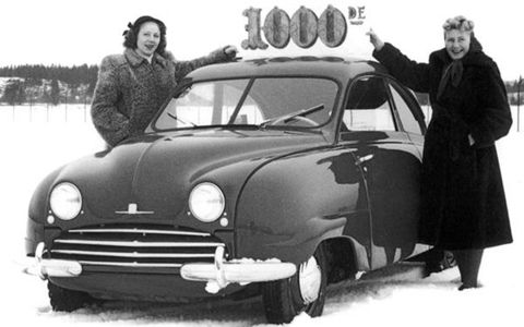 The 1000th Saab - a 92 - rolled off the line in 1950.