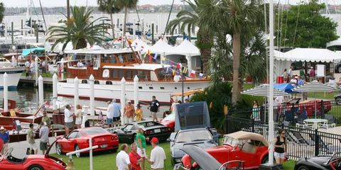 178 cars and 85 wooden boats were on display during the concours at the Lakewood Yacht Club.
