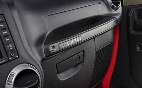 The Moab package includes extras inside and out, like Moab details throughout the interior