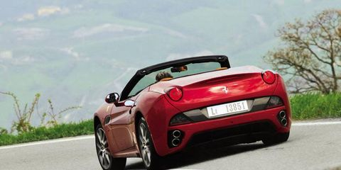 Almost all of our driving was done with the top down and in sport mode, which also activates a freer-breathing exhaust-valve setting.