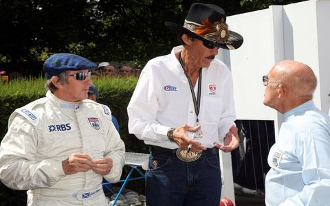 Sir Jackie Stewart, Richard Petty and Sir Stirling Moss talking about the old days.