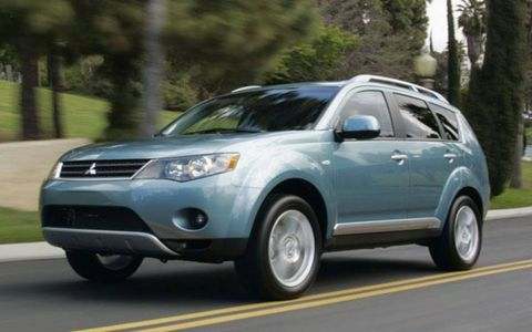 "When it arrives in showrooms in October, customers will see a 2007 Outlander that is more practical, more powerful and ready to perform both mouth-to-mouth and CPR on Mitsubishi Motor Sales America. The Outlander has almost two inches more wheelbase, which allows for the class-requisite third-row seats. Granted, these third-row seats are perhaps the flimsiest in production, more like a pair of third-row folding beach chairs, but they qualify. More versatility comes from the ""flap-fold"" two-piece tailgate located behind that third row that allows still more flexibility for storage."
