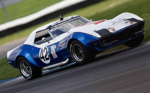 Al Unser Jr. was back at the Indianapolis Motor Speedway, and he was racing a Chevrolet Corvette.