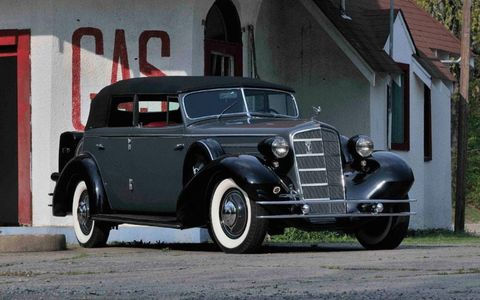 This 1934 Cadillac Fleetwood V12 All-Weather Phaeton is no. 2 of three produced