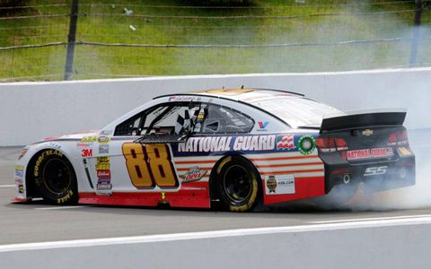 Dale Earnhardt Jr.'s win at Pocono on Sunday was his second win of the NASCAR Sprint Cup season.