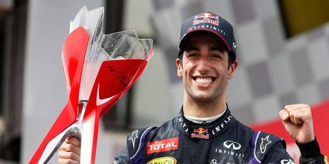 With his win in Canada on Sunday, Daniel Ricciardo became the first non-Mercedes driver to win a Formula One race in 2014.