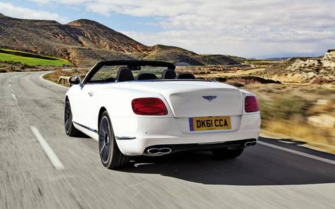 "Bentley brags that this is the world's stiffest convertible with ""coupelike refinement,"" and that may be true."