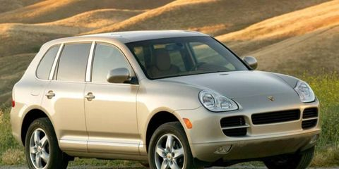 Porsche dealers must sell 2006 models of the Cayenne, left, until the 2008 model debuts early next year.