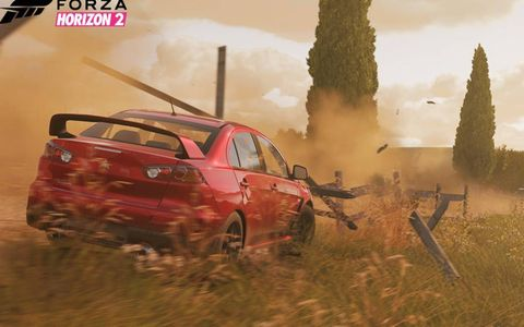 If you drive off the track in Forza Horizon 2 just keep going, you'll rejoin pavement eventually.