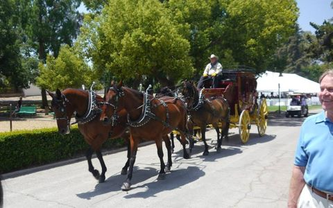 Wells Fargo was a sponsor (along with Rusnak and many others, thank you), so it got to bring its signature stage coach. Four horsepower, by our count.