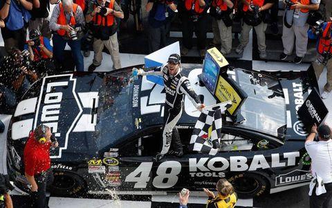 Jimmie Johnson won his 63rd career NASCAR Sprint Cup Series race at Pocono on Sunday.