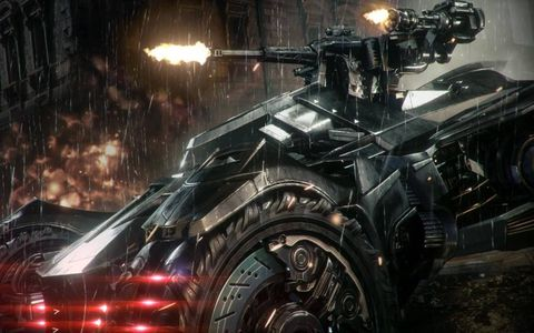 The Caped Crusader gets a new Batmobile in the Warner Bros. video game Batman Arkham Knight, coming in 2015.