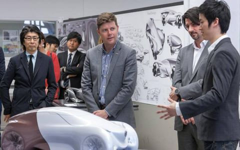 Pictured from Left – College for Creative Studies Instructor Kunihisa Ito; Andrew Smith, Buick global design director; Bregt Ectors, Buick strategic design manager; and 2030 Buick Urbain concept designer, JinYoon Young.