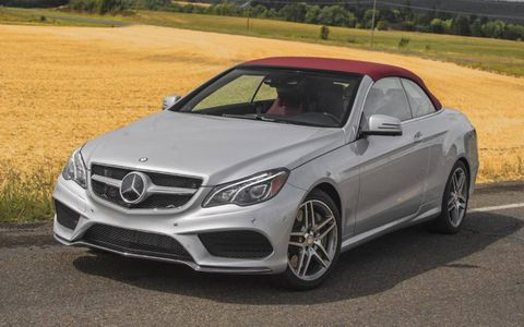 Our test 2014 Mercedes-Benz E550 Cabriolet came equipped with the added navigation system and Harman/Kardon surround sound system.