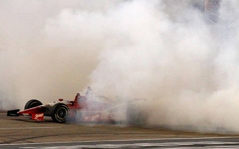 Justin Wilson's postrace burnout.